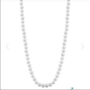 Real 14 Karat (14K) Yellow Gold Pearl Necklace